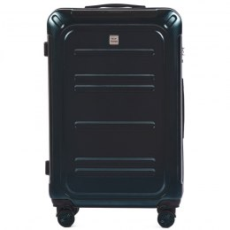 100 % POLICARBON / PC175, Large suitcase Wings Dark green / 5 years warranty