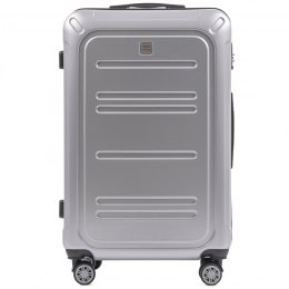 100 % POLICARBON / PC175, Large suitcase Wings Silver / 5 years warranty