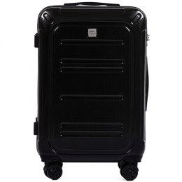 100 % POLICARBON / PC175, Middle size suitcase Wings M, Black / 5 years warranty