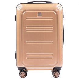 100 % POLICARBON / PC175, Middle size suitcase Wings M, Champagne / 5 years warranty