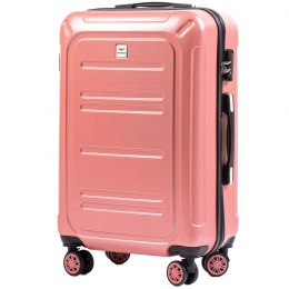 100 % POLICARBON / PC175, Middle size suitcase Wings M, Pink / 5 years warranty