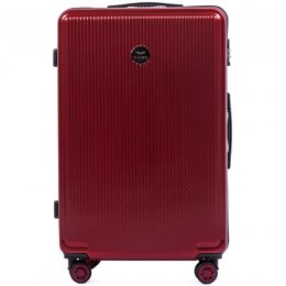 100 % POLICARBON / PC565, Large suitcase Wings, Wine red / 5 years warranty