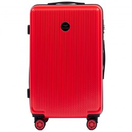 100 % POLICARBON / PC565, Middle size suitcase Wings M, Blood red / 5 years warranty