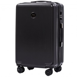 100 % POLICARBON / PC565, Middle size suitcase Wings M, Dark grey / 5 years warranty