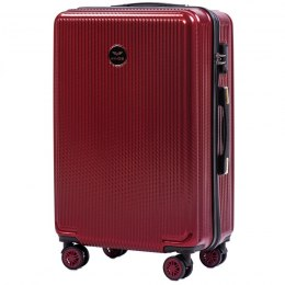 100 % POLICARBON / PC565, Middle size suitcase Wings M, Wine red / 5 years warranty
