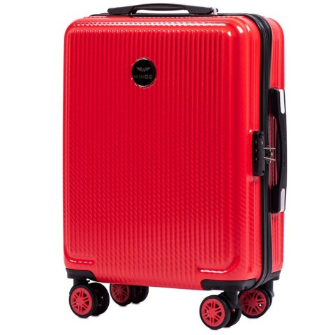 100 % POLICARBON / PC565, Cabin suitcase Wings S, Blood red/ 5 years warranty