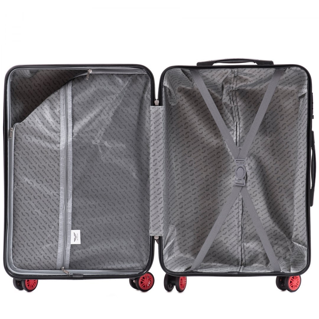 100 % POLICARBON / PC565, Sets of 3 suitcases L,M,S, Black / 5 years warranty
