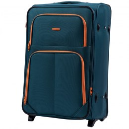 214 (2), Large soft travel suitcase 2 wheels Wings L, Tourquse