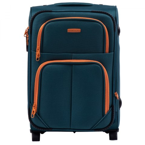 214 (2), Cabin soft travel suitcase 2 wheels Wings S, Tourquse