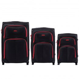 214, Sets of 3 suitcases Wings 2 wheels L,M,S, Black