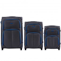 214, Sets of 3 suitcases Wings 2 wheels L,M,S, Grey