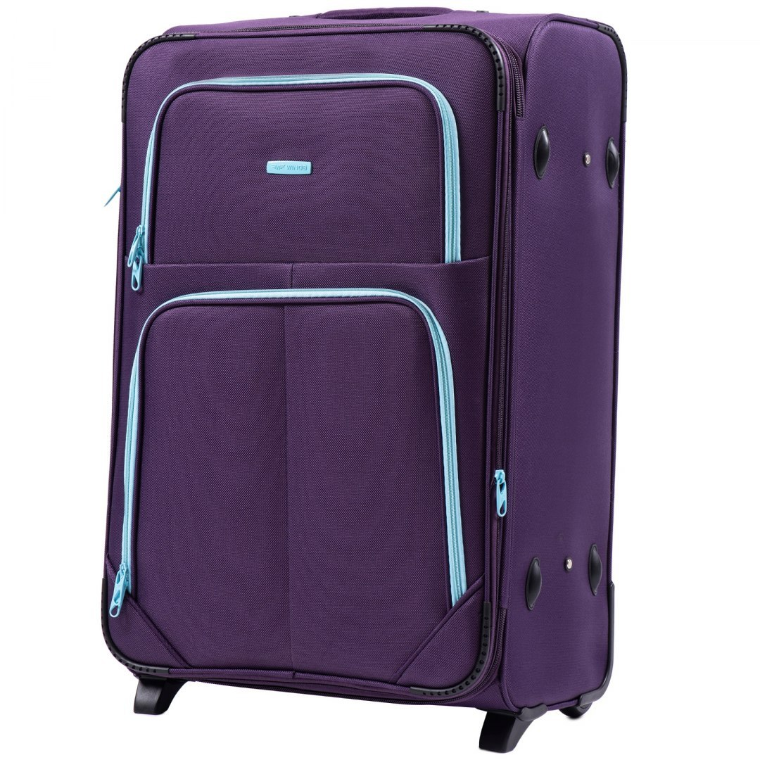 214, Sets of 3 suitcases Wings 2 wheels L,M,S, Purple