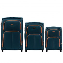 214, Sets of 3 suitcases Wings 2 wheels L,M,S, Tourquse