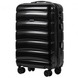 100 % POLICARBON / PC 160, Middle size suitcase Wings M, Black / 5 years warranty