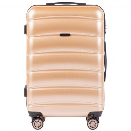 100 % POLICARBON / PC 160, Middle size suitcase Wings M, Champagne/ 5 years warranty