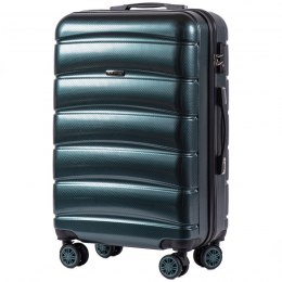 100 % POLICARBON / PC 160, Middle size suitcase Wings M, Dark green/ 5 years warranty