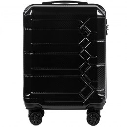 100 % POLICARBON / PC 185 ,Cabin suitcase Wings S, Black/ 5 years warranty