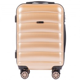 100 % POLICARBON / PC 160 ,Cabin suitcase Wings S, Champagne/ 5 years warranty