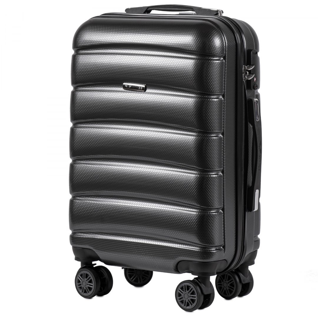 100 % POLICARBON / PC 160 ,Cabin suitcase Wings S, Dark grey/ 5 years warranty