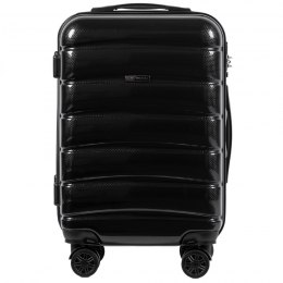 100 % POLICARBON / PC 160 ,Cabin suitcase Wings S, Black/ 5 years warranty