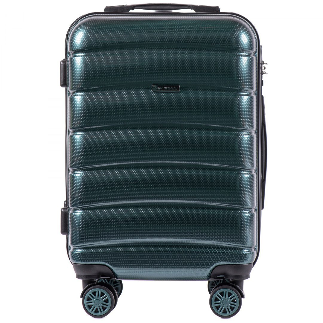 100 % POLICARBON / PC 160 ,Cabin suitcase Wings S, Dark green/ 5 years warranty