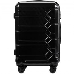 100 % POLICARBON / PC 185, Middle size suitcase Wings M, Black / 5 years warranty