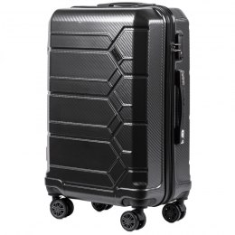 100 % POLICARBON / PC 185, Middle size suitcase Wings M, Dark grey / 5 years warranty
