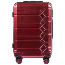 100 % POLICARBON / PC 185, Middle size suitcase Wings M, Wine red / 5 years warranty