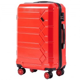 100 % POLICARBON / PC 185, Middle size suitcase Wings M, Blood red / 5 years warranty