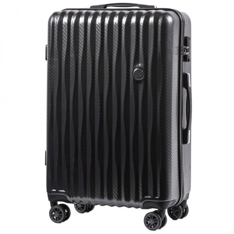 100 % POLICARBON / PC 5223, Middle size suitcase Wings M, Dark grey / 5 years warranty