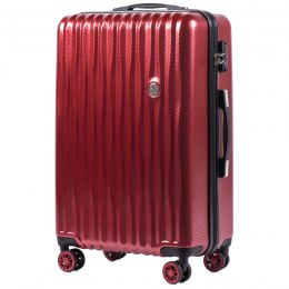 100 % POLICARBON / PC 5223, Middle size suitcase Wings M, Wine red / 5 years warranty