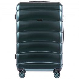 100 % POLICARBON / PC160, Large suitcase Wings Dark green / 5 years warranty