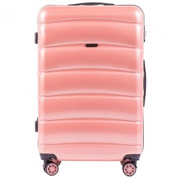 100 % POLICARBON / PC160, Large suitcase Wings Pink / 5 years warranty