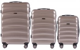 100 % POLICARBON / PC160, Sets of 3 suitcases L,M,S, Bronze / 5 years warranty