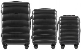 100 % POLICARBON / PC160, Sets of 3 suitcases L,M,S, Dark grey / 5 years warranty