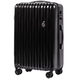100 % POLICARBON / PC 5223, Middle size suitcase Wings M, Black / 5 years warranty