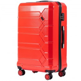 100 % POLICARBON / PC185, Large suitcase Wings Blood red / 5 years warranty