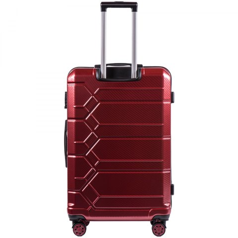 100 % POLICARBON / PC185, Large suitcase Wings Wine red / 5 years warranty