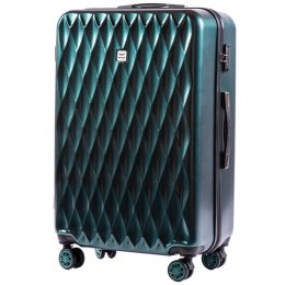 100 % POLICARBON / PC190, Large suitcase Wings Dark green/ 5 years warranty