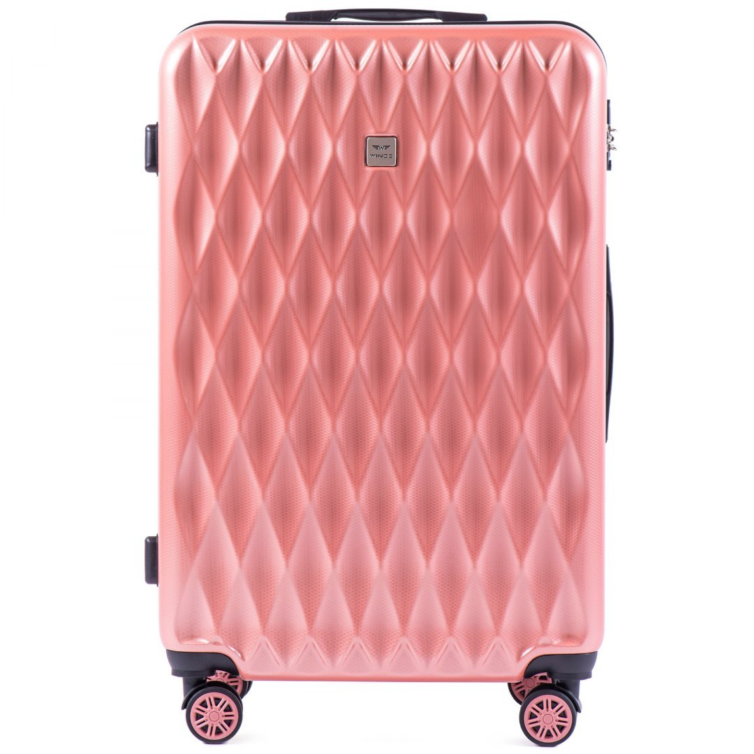 100 % POLICARBON / PC190, Large suitcase Wings Pink/ 5 years warranty
