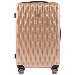 100 % POLICARBON / PC190, Large suitcase Wings Champagne/ 5 years warranty