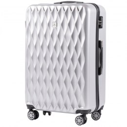 100 % POLICARBON / PC190, Large suitcase Wings Silver/ 5 years warranty