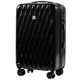100 % POLICARBON / PC190, Middle size suitcase Wings M, Black / 5 years warranty