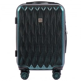 100 % POLICARBON / PC190,Cabin suitcase Wings S, Dark green/ 5 years warranty