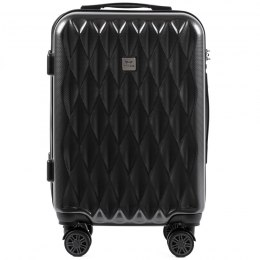 100 % POLICARBON / PC190,Cabin suitcase Wings S, Dark grey/ 5 years warranty