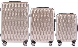 100 % POLICARBON / PC190, Sets of 3 suitcases L,M,S, Bronze/ 5 years warranty