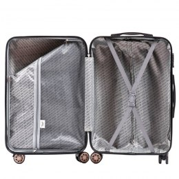 100 % POLICARBON / PC190, Sets of 3 suitcases L,M,S, Silver/ 5 years warranty