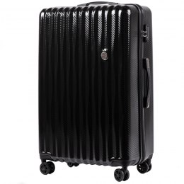 100 % POLICARBON / PC5223, Large suitcase Wings Black / 5 years warranty