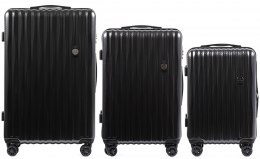 100 % POLICARBON / PC5223, Sets of 3 suitcases L,M,S, Dark grey/ 5 years warranty