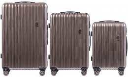100 % POLICARBON / PC5223, Sets of 3 suitcases L,M,S, Bronze/ 5 years warranty